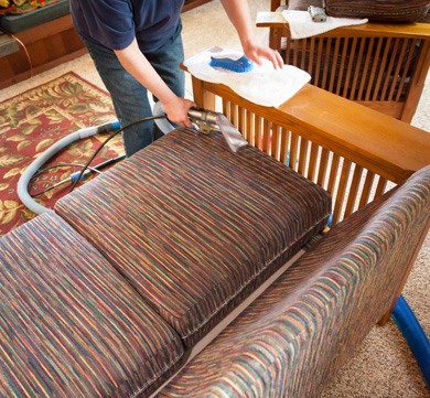 Mission style furniture cleaned in Macomb Michigan
